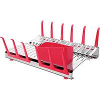 Escorredor de Louça Tramontina Plurale Aço Inox Vermelho