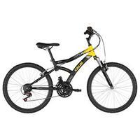 Bicicleta Caloi Max Front Aro 24 21 Marchas Preto e Amarelo
