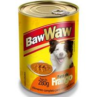 Lata Baw Waw Patê Cães Adultos Frango 280g