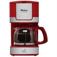 Cafeteira Elétrica Philco PH16 Vermelha e Aço Escovado 110V