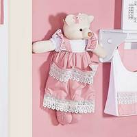 Porta Fraldas Boneca Belle Rosé Batistela Baby 100% Algodão
