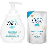 Sabonete Líquido Dove Hidratação Sensível 400ml + Refil Sabonete Líquido Baby Dove 180ml