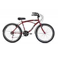 Bicicleta Stone Bike Aro 26 21 Marchas Beach Vermelha