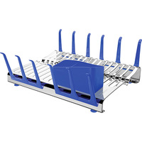 Escorregador Plurale Tramontina para 16 Pratos e 12 Copos Azul