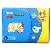 Fralda Huggies Turma Da Mônica Tripla Proteção Mega + 4 Fraldas Grátis G 48 Unidades