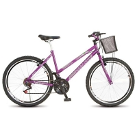 Bicicleta Colli City Allegra Aro 26 18 Marchas Lilás