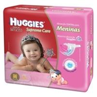 Fralda Descartável Huggies Turma da Mônica Supreme Care Meninas 216 unidades