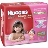 Fraldas Huggies Turma da Mônica Supreme Care Soft Touch Meninas Tam XXG 26 unid