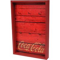 Porta Chaves Urban Coca Cola Madeira Wood Style Vermelho 32x22x4,5cm