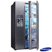 Refrigerador Food Showcase Frost Free Samsung RH77H90507H 3 Portas 765L Inox