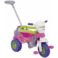 Triciclo Infantil Magic Toys Tico Tico Super Bichos com Aro Rosa