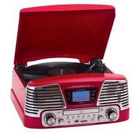 Toca Discos CTX Harmony com CD Player 10W Vermelho