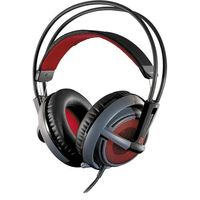 Headset para PC SteelSeries Siberia V2 DOTA 2 Edition Preto e Vermelho