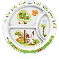 Prato Grande Philips Avent com Divisórias para Bebês (12Meses+)