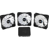 Kit 3 Cooler Fan Aerocool P7-F12 Pro 120Mm Led Rgb Controlador Preto