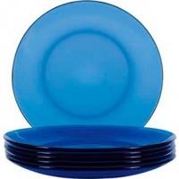 Conjunto de Pratos Nadir Duralex Sobremesa Oceano Azul 24 Peças