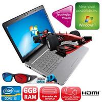 Notebook Positivo Premium N9300 3D Core i3-2310M 2.1GHz 6GB 750GB Intel