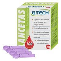 Lancetas para Lancetador G-Tech 30g LAN3010G Roxo