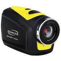 Filmadora Sport Mini New Link FS202 Preta e Amarela