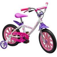 Bicicleta Nathor Aro 14 First Pro Girl Aluminum Branca e Rosa