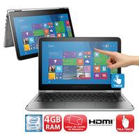 Notebook 2 em 1 Touch HP Pavilion X360 13-S101BR i3-6100U 4GB 500GB 2.3GHz 13.3\