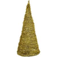 Árvore de Natal Santini Festão Dourada 1.50m