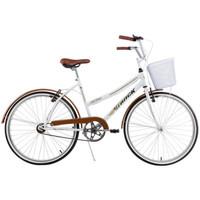Bicicleta Track e Bikes Confort Classic Plus Aro 26 Feminina Branca