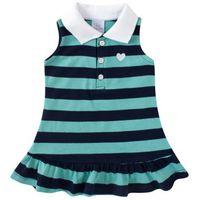Vestido Infantil Piu Piu Verde Listrado