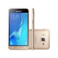 Smartphone Samsung Galaxy J3 Duos 2016 SM-J320M/DS Desbloqueado GSM Dual Chip 8GB 4G Android 5.1 Dourado