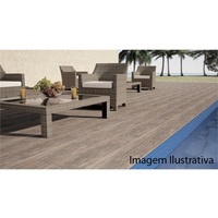 Porcelanato Incepa Deck Wood Marrom 24.5x100cm Retificado Abs