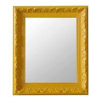 Espelho Moldura Fusi Rococó Raso 16371 Amarelo