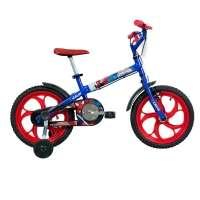 Bicicleta Caloi Spider Man Aro 16 Azul e Vermelha