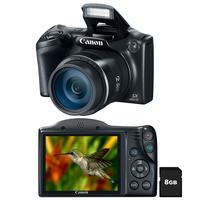 Câmera Digital Canon Powershot SX400IS 16MP Preto + Cartão SD  8GB