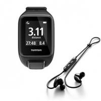 Relógio TomTom Spark Cardio + Music Preto Tamanho S com Fones Bluetooth Monitor Cardíaco GPS 3GB
