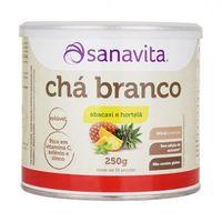 Chá Branco Sanavita Abacaxi com Hortelã 250g
