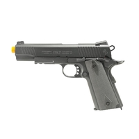 Pistola Airsoft Colt 1911 Rail Black Matt Full Metal GBB CO2 - Cybergun