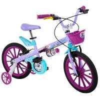 Bicicleta X-Bike Bandeirante Disney Frozen Aro 16 Lilás