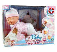 Boneca Baby Amore Engatinha Estrela Rosa