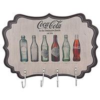 Cabideiro de Parede Urban Coca Cola MDF Bottle Evolution Colorido
