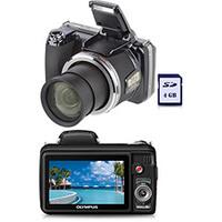 Câmera Digital Olympus SP810 14MP Preta + Cartão SD 4GB (cópia de)