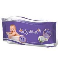 Lenços Umedecidos Baby Bath Aloe Vera e Camomila 72 Unidades
