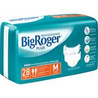 Fraldas Descartáveis Big Roger Mega Plus Adulto Tamanho M 28 Unidades