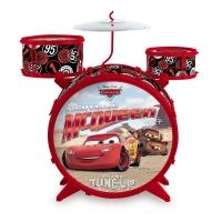 Bateria Acústica Toyng Disney Cars Relâmpago McQueen Vermelha