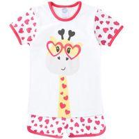 Pijama Longo Piu Piu Branco Hipopotamo