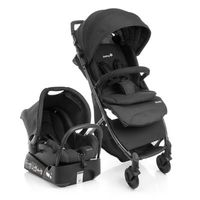 Conjunto Travel System Airway Full Black Safety 1st