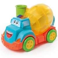 Brinquedo Caminhão Calesita Betoneira Mix Ball 828 Laranja e Azul