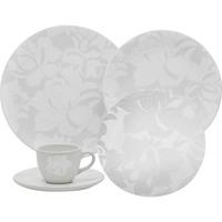 Aparelho de Jantar e Chá Oxford Porcelanas Mail Order 20 Peças Coup Blanc