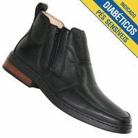 Botina Doctor Shoes Confort Masculina Preta