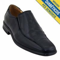 Sapato Doctor Shoes Social Extra Comfort Superleve Masculino Preto