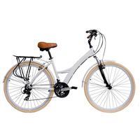 Bicicleta Tito Bikes com 21 Marchas Urban Premium Branca